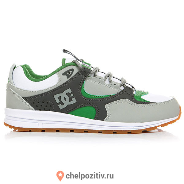 Кеды DC SHOES KALIS LITE M SHOE GREY/WHITE/GREEN