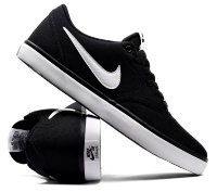 Кеды NIKE SB Check Solarsoft Canvas Skateboarding Shoe ЧЕРНЫЙ