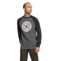 Свитшот DC SHOES CIRCLE STAR CRE M OTLR BLACK/ CHARCOAL HEATHER